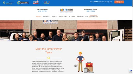 solar company about us page example