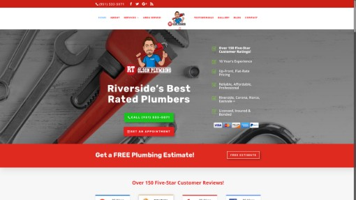 sample plumbers website design
