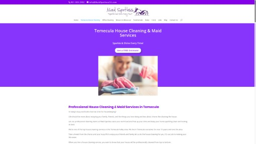 web design sample for temecula contractor