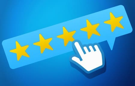 reputation management - customer review stars