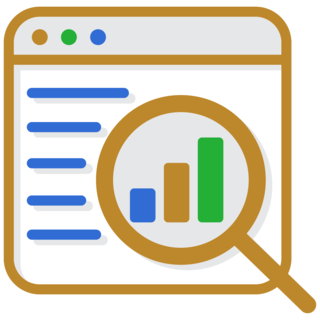 brand and website seo analysis icon