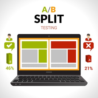 A-B Split testing content and funnels
