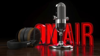 on air podcast image - earn links thru guest podcasting