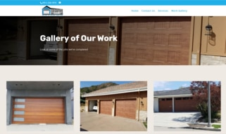 website design for contractor sample