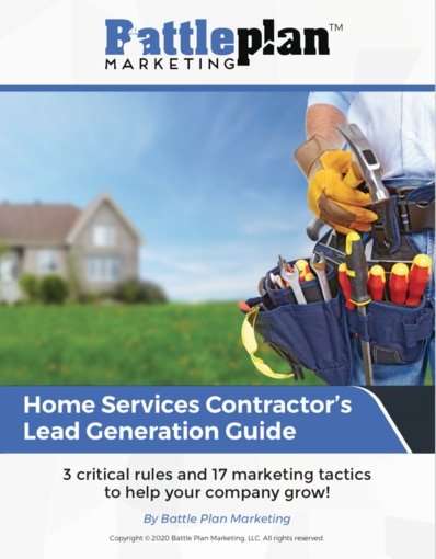 Our extensive 14-page Contractor's Lead Generation Guide contains 3 critical rules and 17 marketing tactics to help you grow your home services company.