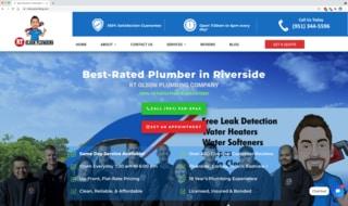RT Olson Plumbing website screenshot - case study