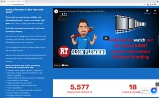 RT Olson Plumbing website screenshot3