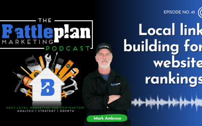 Local link building for website rankings