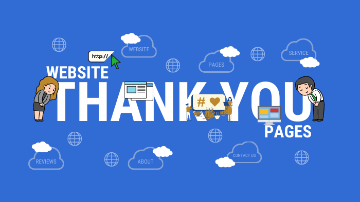 Website thank you pages